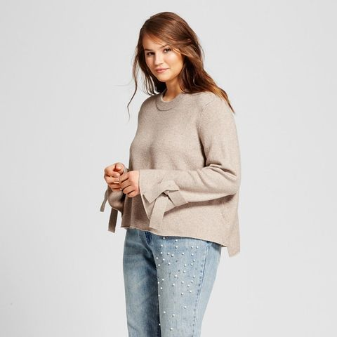 Tie-Sleeve Sweater