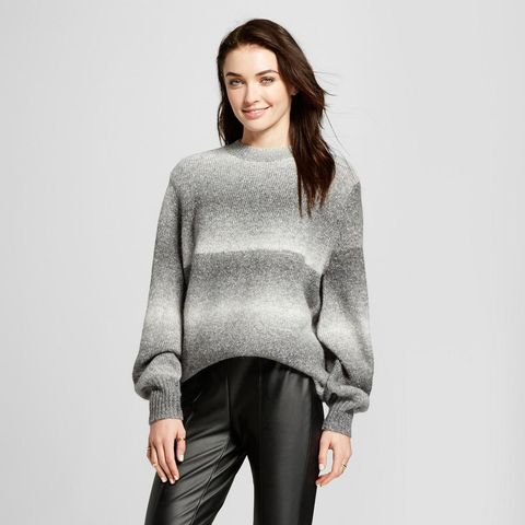 Cocoon Sleeve Oversize Crew-Neck Sweater