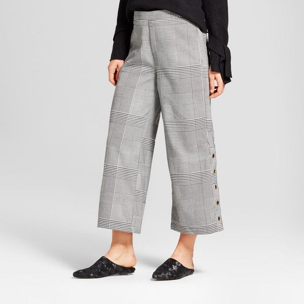 Side Snap Crop Trouser