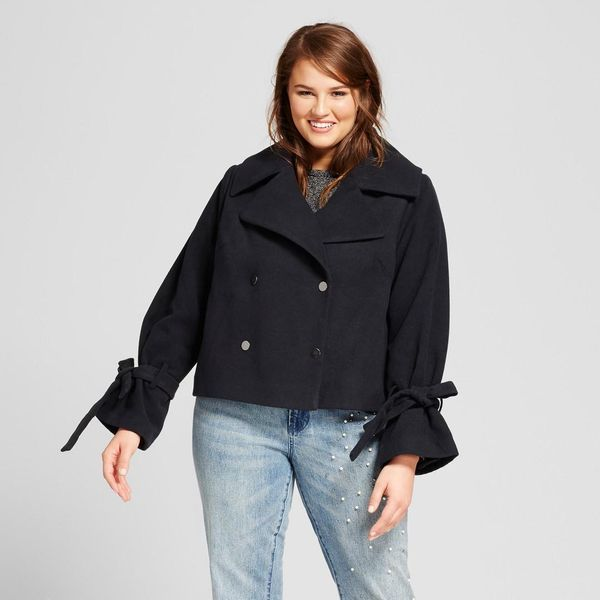 Plus Size Boxy Pea Coat