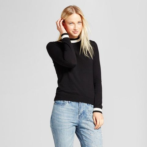 Long Sleeve Mock-Neck Sweater