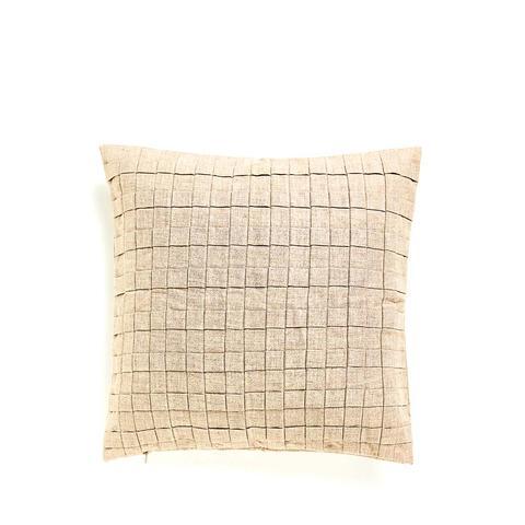 Pleated Linen Cushion
