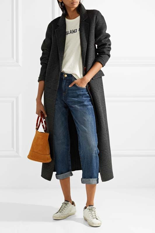 The Boyfriend Cropped Mid-rise Jeans