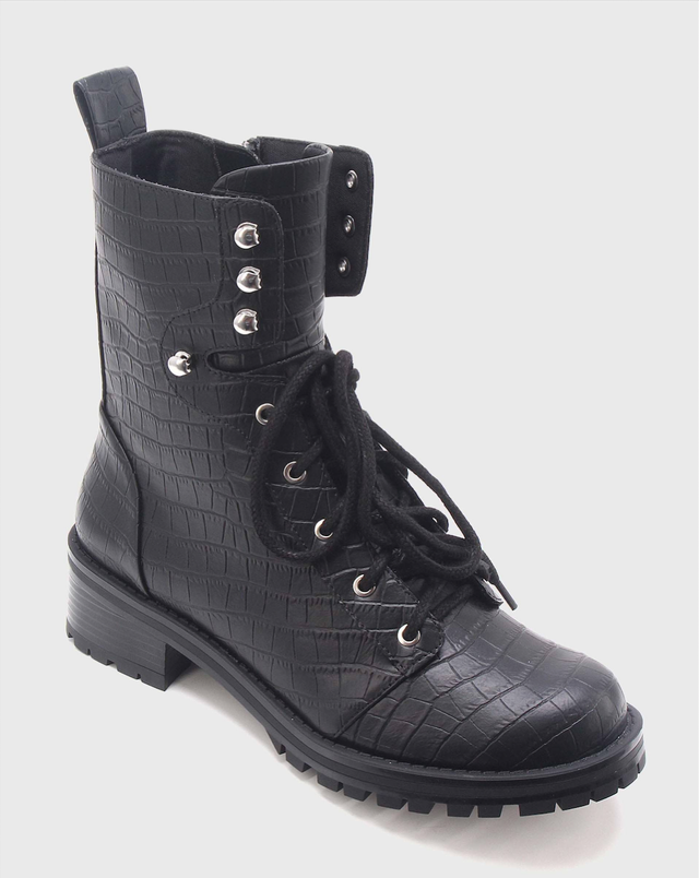 Who What Wear Croc Combat Boots