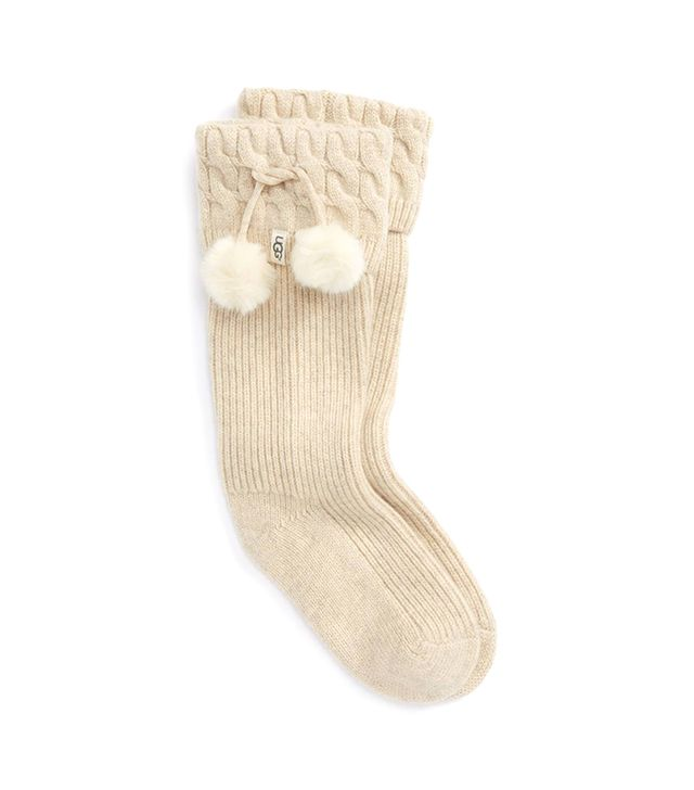 Women's Ugg Uggpure(TM) Pompom Tall Rain Boot Sock