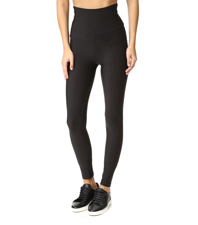 High Waist Matte Fleece Leggings