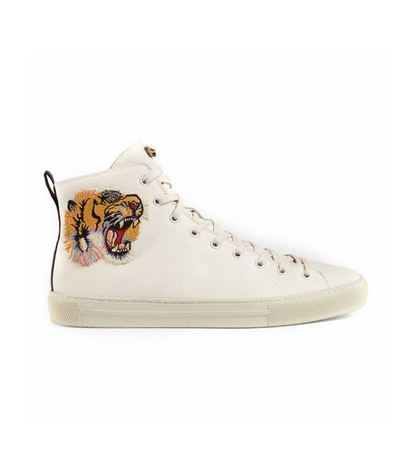 Leather high-top with tiger
