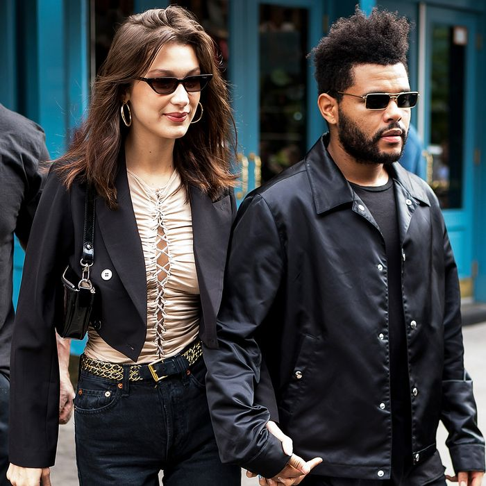 Bella Hadid & The Weeknd Street Style