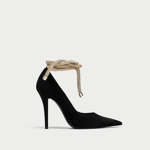 High Heel Court Shoes With Cord Detail