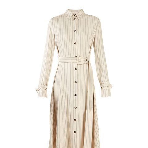 Fiona Waist Belt Pintstriped Shirtdress