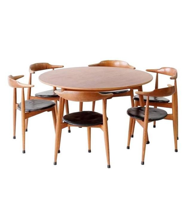 1stdibs Midcentury Dining Room Table and Chairs (Set of 6)