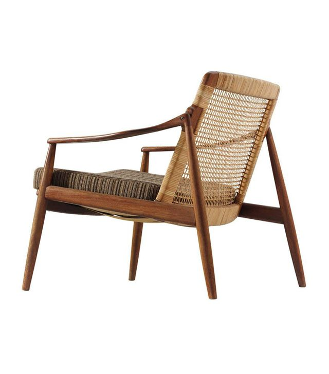 Hartmut Lohmeyer Armchair in Teak and Cane