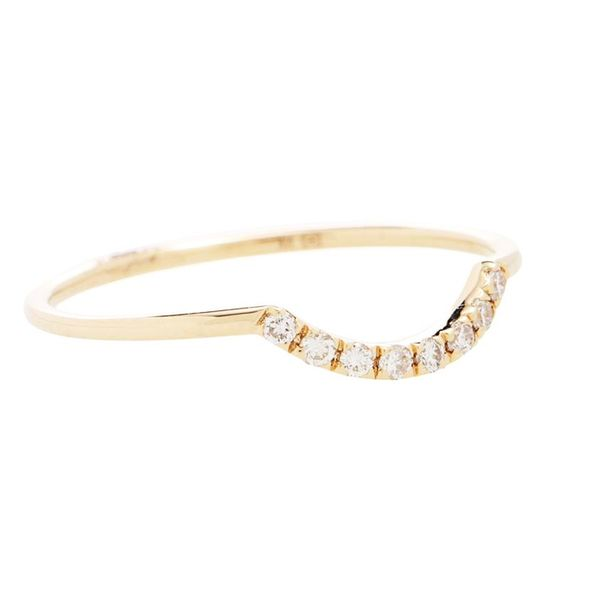 10 Affordable Engagement Rings: Sydney Evan, Curved Pavé 14kt Gold and Diamonds Ring