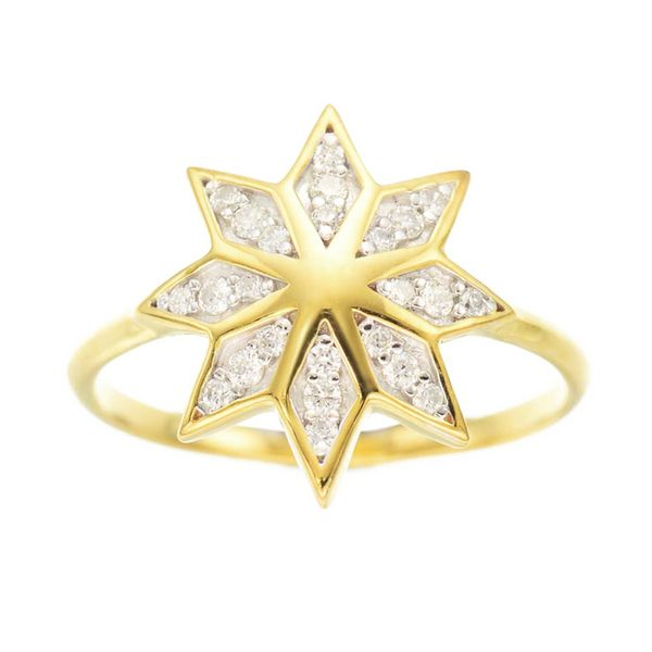 10 Affordable Engagement Rings: Zoe & Morgan Lakshimi Ring 9K  in Yellow Gold with Diamond