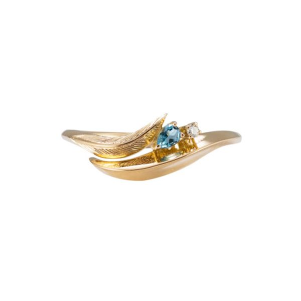 10 Affordable Engagement Rings: Daou ,Feather Aquamarine Ring