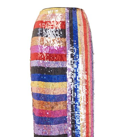 Premium Rainbow Sequin Midi Skirt