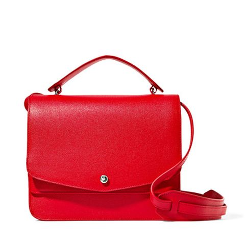Eloise Textured-Leather Shoulder Bag