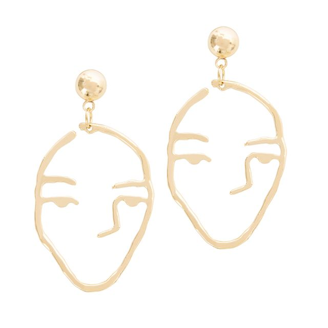 Your Best Friend Will Love These 21 Gift Ideas: A Weathered Penny Gold Face Earrings
