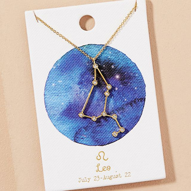 Your Best Friend Will Love These 21 Gift Ideas: Anthropologie Gift Card Zodiac Necklace