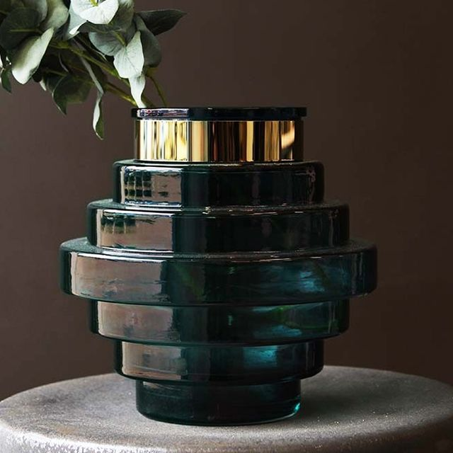 Your Best Friend Will Love These 21 Gift Ideas: Rockett St George Blue Glass Beehive Vase