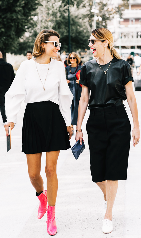 these 12 black and white outfits are a minimalists dream