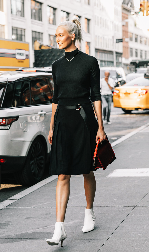 black and white minimalist outfits