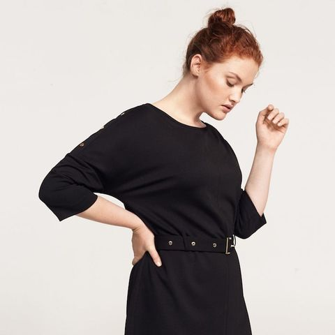 Studs Belted Dress