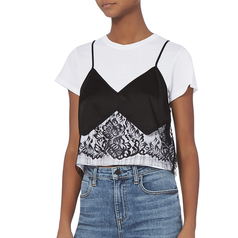 Lace Camisole Layered Tee