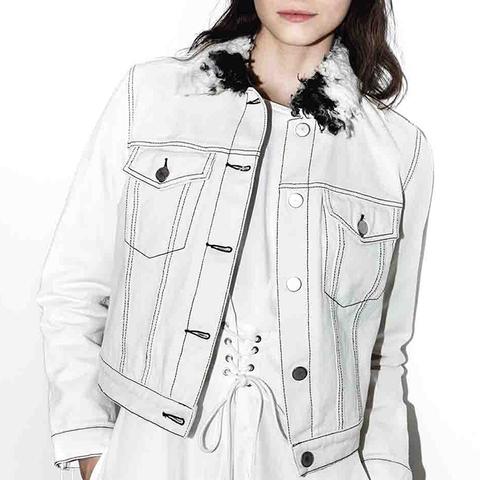 Denim Jacket With Sherpa Collar