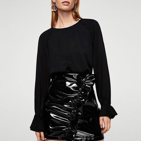 Draped Vinyl Skirt