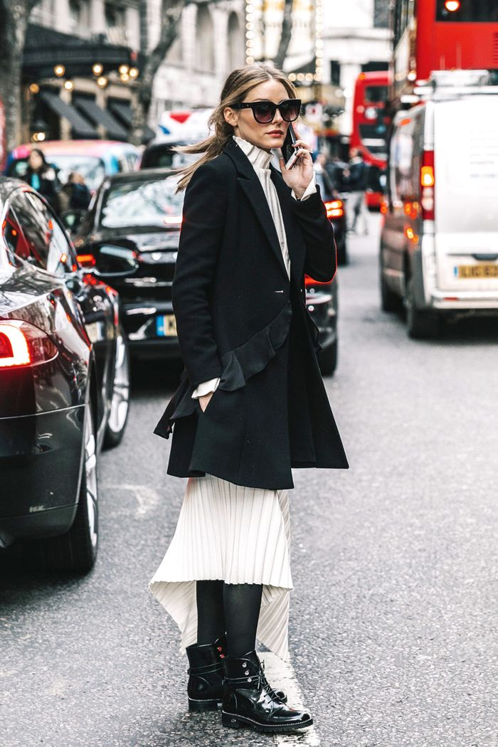 12 Ways To Wear Your Dresses With Tights And Boots Who What Wear
