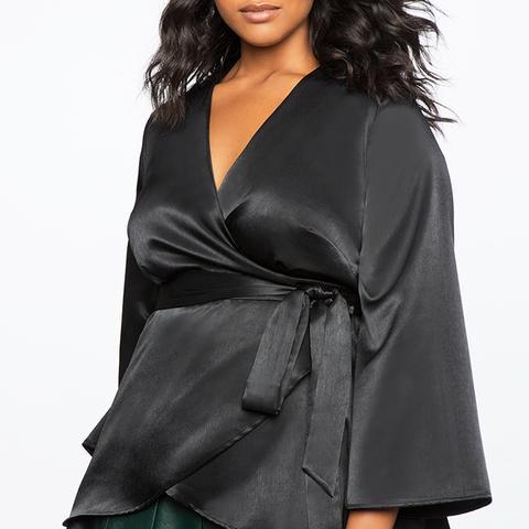 Silky Kimono Wrap Top