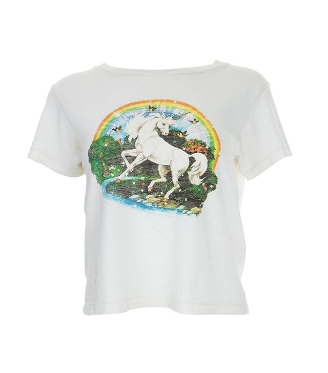 Re/Done The Classic Tee in Unicorn Dream