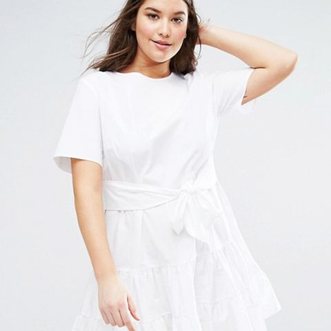 Tiered Cotton Mini Dress