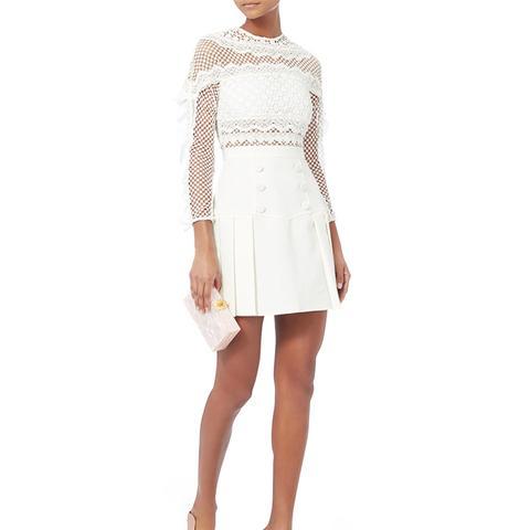 Bellis White Lace Dress