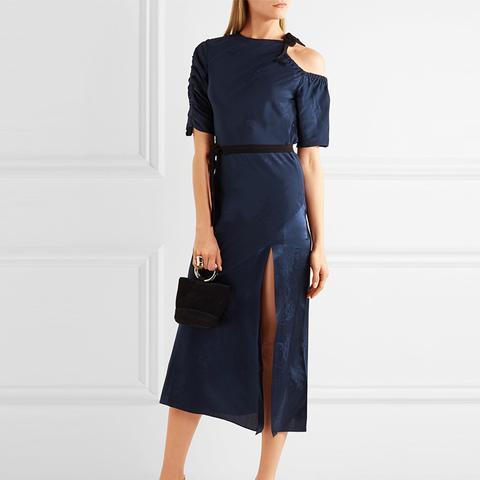 Lambeth Cutout Silk-Jacquard Midi Dress