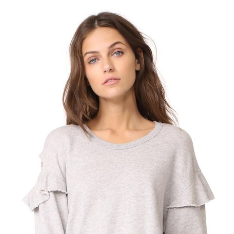 Raw Ruffle Sweatshirt