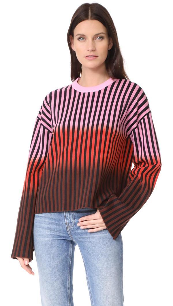 Dip Dye Striped Sweater