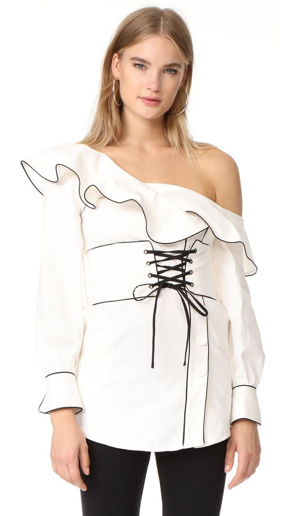 Canvas Corset Belted Tunic