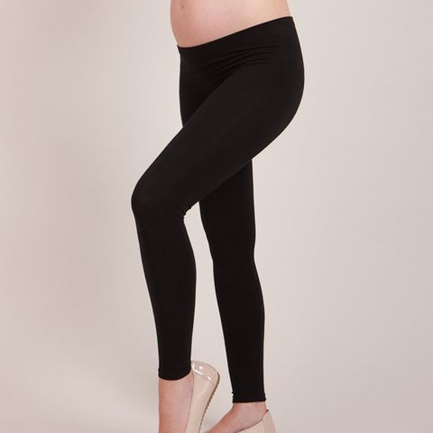 Black Bamboo Active Under-Bump Maternity Leggings