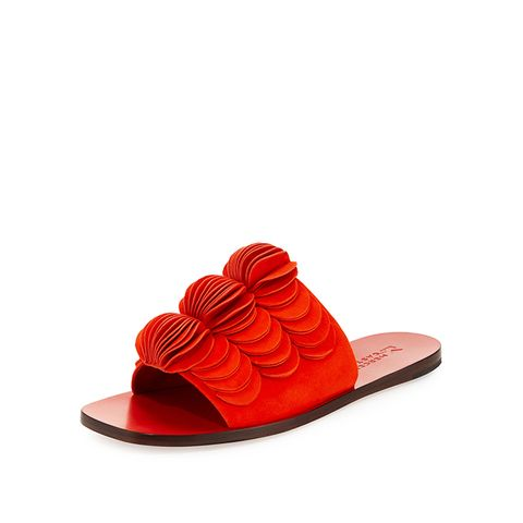 Delphia Suede Flat Slide Sandal