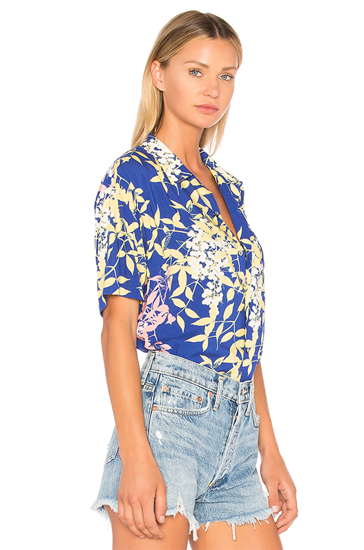 Hawaiian Shirt in Blue. - size M (also in XS,S)
