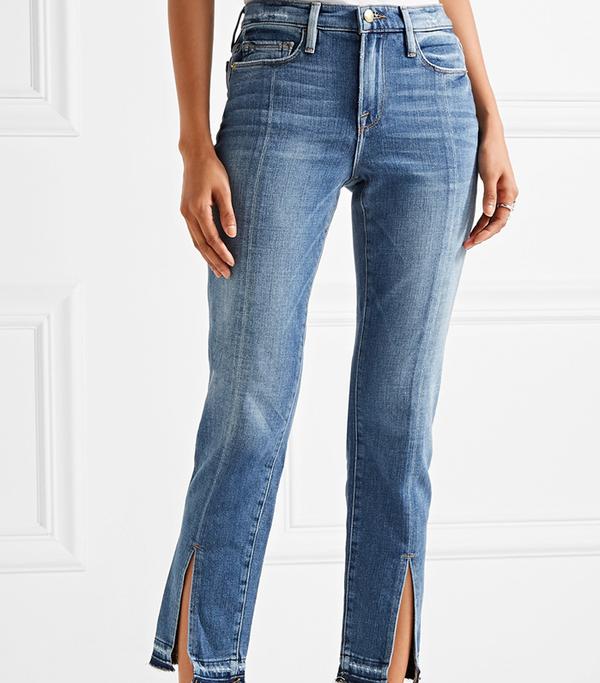 Le Nouveau Distressed Mid-ride Straight-leg Jeans