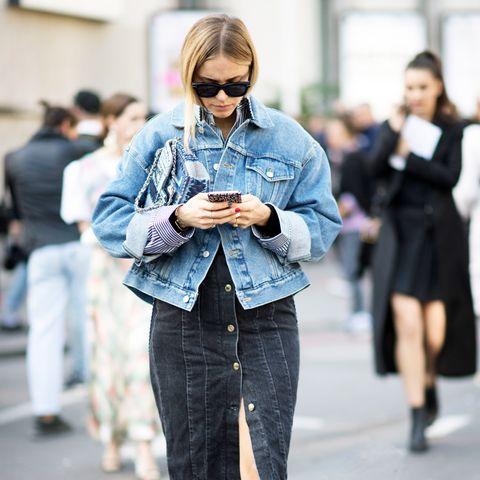 5 New Ways to Wear a Denim Skirt This Fall