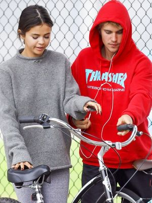 Selena Gomez Wore Leggings for a Cute Bike Ride With Justin Bieber
