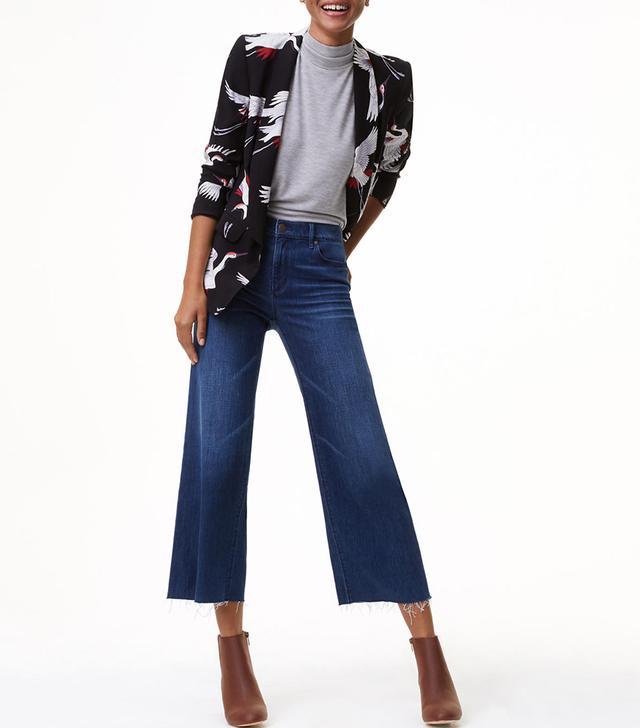 Loft Wide Leg Crop Jeans
