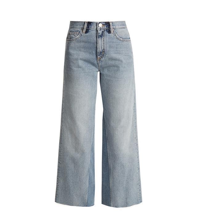 Caron wide-leg cropped jeans