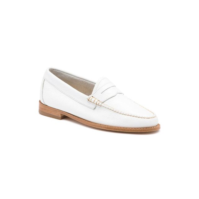 G.H. Bass & Co. Whitney Tumbled Leather Weejuns - White