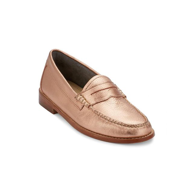 G.H. Bass & Co. Whitney Metallic Leather Weejuns - Rose Gold