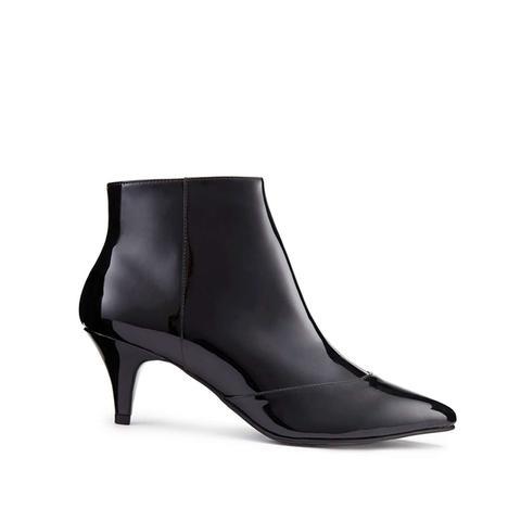 Dita Patent Kitten Heel Boots